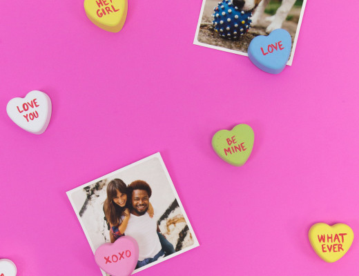 DIY Conversation Heart Photo Stands - Snaps: A Blog from SnapBox