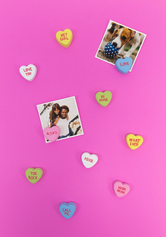 DIY Conversation Heart Photo Stands - Snaps: A Blog from SnapBox